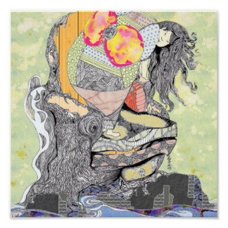 The Empress is frightened of the Ocean Print