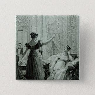 The Empress Josephine reveals the prophesy 15 Cm Square Badge