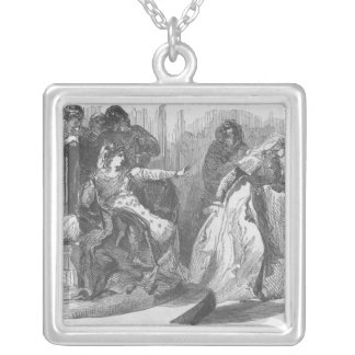 The Empress Matilda  and the Queen of Stephen Silver Plated Necklace
