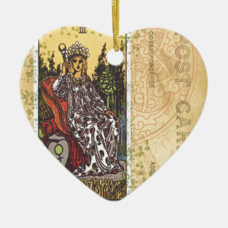 The Empress Tarot Card Postcard Fortune Teller Christmas Ornament