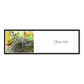 The Empty Nest Business Card Template