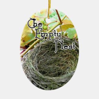 The Empty Nest Ceramic Oval Decoration