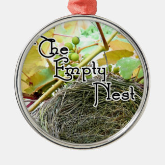 The Empty Nest Silver-Colored Round Decoration