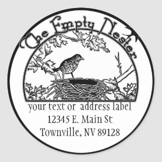 The Empty Nester Classic Round Sticker