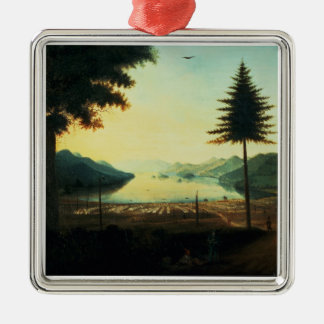 The Encampment at Lake George, New York, 1759 (oil Christmas Ornament