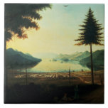 The Encampment at Lake George, New York, 1759 (oil Large Square Tile