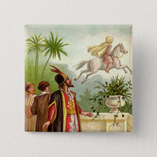 The Enchanted Horse Scheherazade's Tale 15 Cm Square Badge