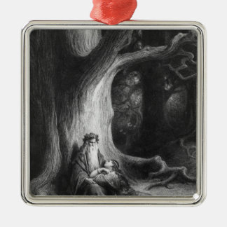 The Enchanter Merlin and the Fairy Vivien Christmas Ornament