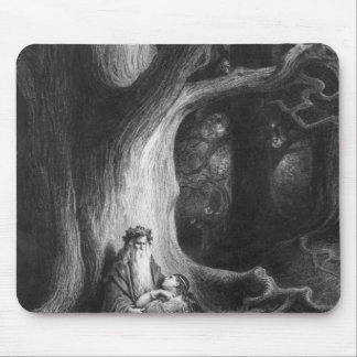 The Enchanter Merlin and the Fairy Vivien Mouse Mat
