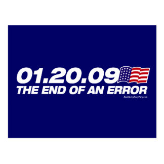 The End of an Error Postcard