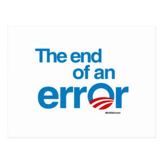 The end of an error postcard
