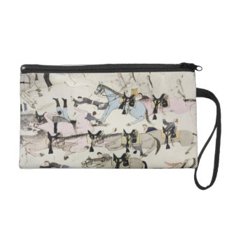 The end of the battle (ink on paper) wristlet clutch