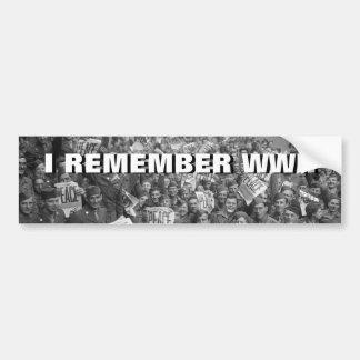 The End of WW2 Bumper Sticker