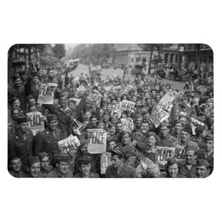 The End of WW2 Rectangular Photo Magnet