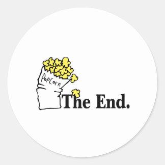The End (Popcorn) Round Sticker