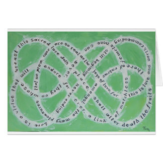 The Endless Knot of Love Card