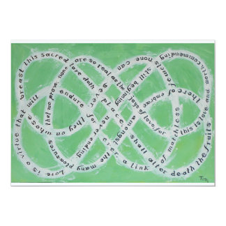 The Endless Knot of Love Invitation