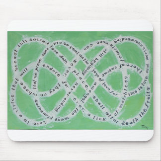 The Endless Knot of Love Mouse mat