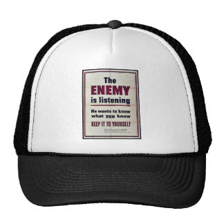 The Enemy Is Listening Mesh Hat