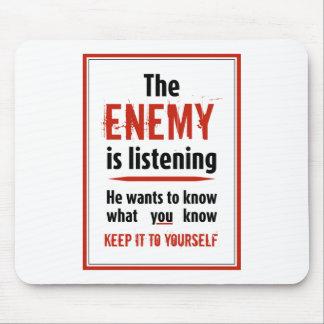 The Enemy Is Listening Mousepad [Landscape]