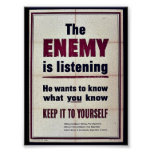 The Enemy Is Listening Posters