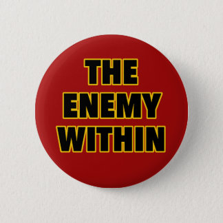 The Enemy Within 6 Cm Round Badge