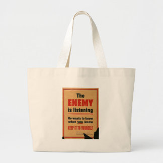 The Enemy World War 2 Canvas Bags