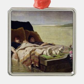 The Enerves de Jumieges, 1880 Silver-Colored Square Decoration