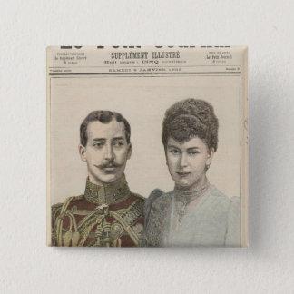 The Engagement of Albert Victor  Duke of 15 Cm Square Badge