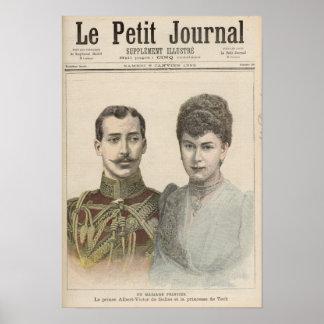 The Engagement of Albert Victor  Duke of Poster