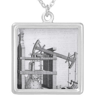 The Engine to Raise Water by Fire Silver Plated Necklace