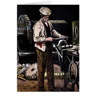 """ The Engineer"" Vintage Illustration Greeting Card"