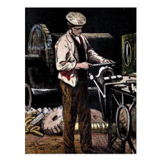 """"""" The Engineer"""" Vintage Illustration Postcard"""
