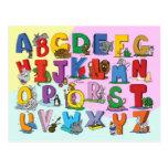 The English Alphabet Postcard