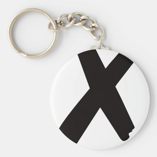 """The English American Letter """"X"""" Key Chains"""