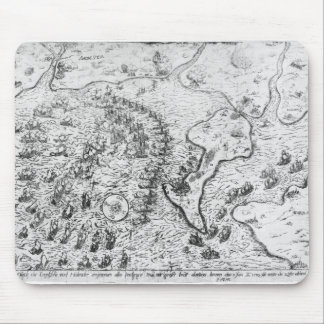 The English and Dutch Force facing Spanish Fleet Mouse Mat