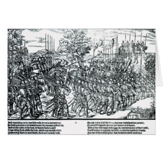 The English Army Marching with Sir Henry Sidney Greeting Card
