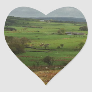 The English Countryside Heart Sticker
