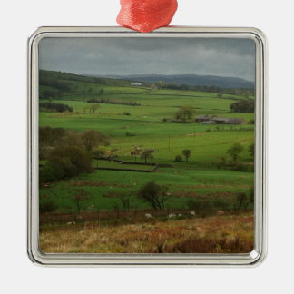 The English Countryside Silver-Colored Square Decoration