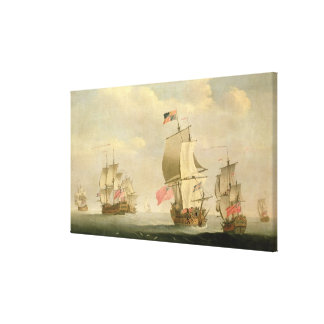 The English Fleet Under Sail Canvas Print