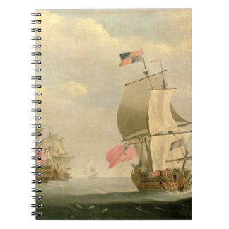 The English Fleet Under Sail Spiral Notebook