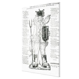 The English Irish Soldier, with New Discipline Canvas Print