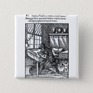 The Engraver, published by Hartman Schopper 15 Cm Square Badge