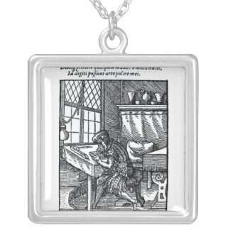 The Engraver, published by Hartman Schopper Silver Plated Necklace