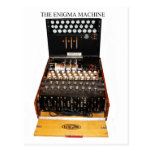 The enigma machine, vintage military messaging postcard