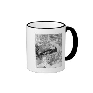 The Enormous Oak Tree is Cut Down Ringer Coffee Mug
