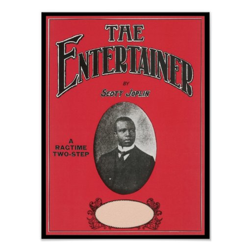 The Entertainer Scott Joplin Vintage Songbook Cove Print