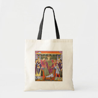 The Enthroned Rulers By Meister Der Reichenauer Sc Tote Bag