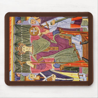 The Enthroned Rulers By Meister Der Reichenauer Sc Mouse Pad