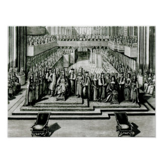 The Enthroning of King James II and Queen Mary Poster